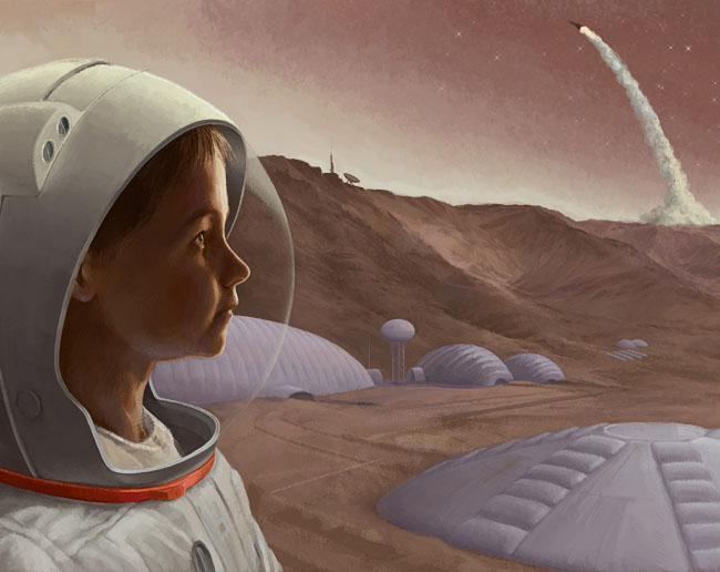 Space Settlement Art Contest: Mars from a Young Perspective