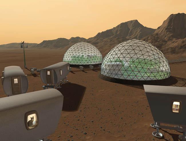 Space Settlement Art Contest: Martian Evening