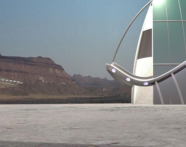 Space Settlement Art Contest: Mars 2500 C.E: Space Port