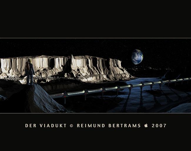 Space Settlement Art Contest - Moon Settlement - Viaduct