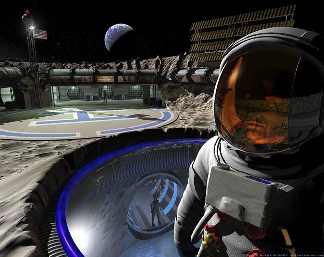 Space Settlement Art Contest Alex Aurichio Moonbase One