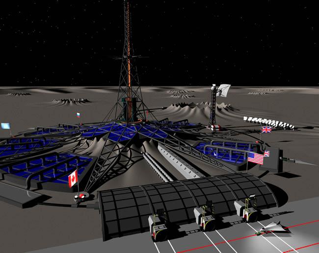 Space Settlement Art Contest: Moonbase Texceros