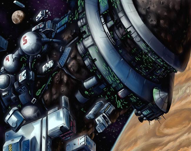 "Space Settlement Art Contest: ""Muir II"" Mobile Astrobiology Station"