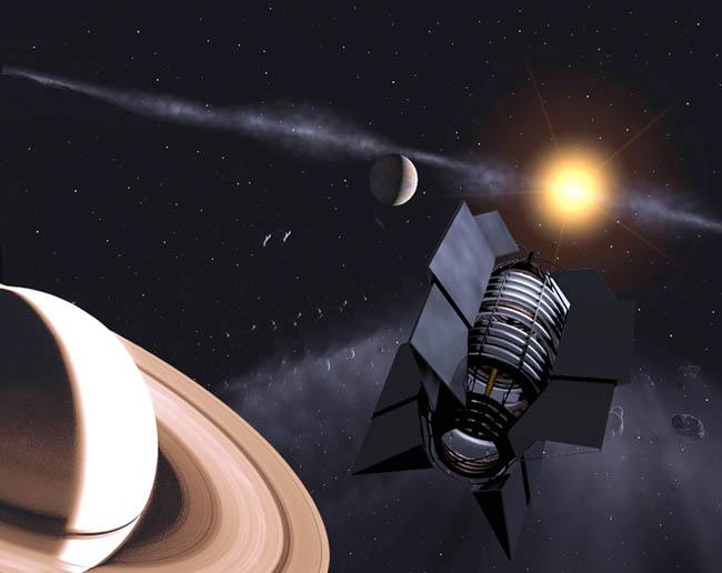 Space Settlement Art Contest Leticia Dominguez Space Colony in Saturn Orbit EVA