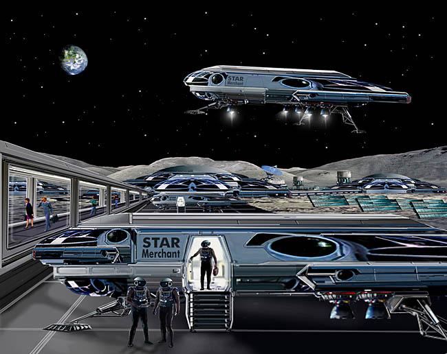 Space Settlement Art Contest Bill Wright Star Merchant