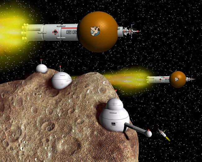 Space Settlement Art Contest: Starships and Asteroid Settlement