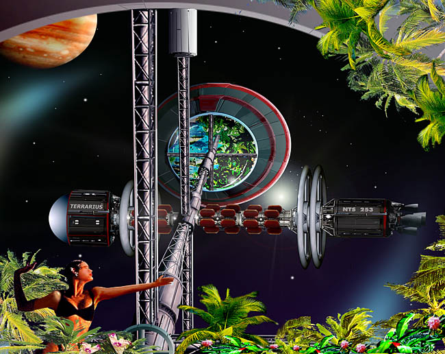 Space Settlement Art Contest Bill Wright Terrarius colony