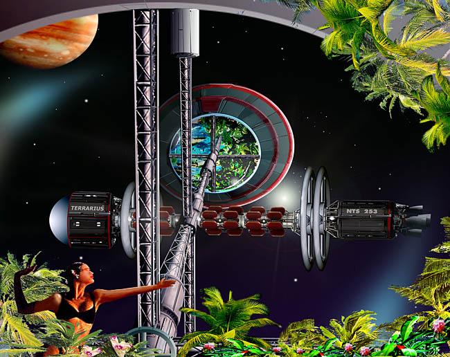 Space Settlement Art Contest Bill Wright Terrarius colony