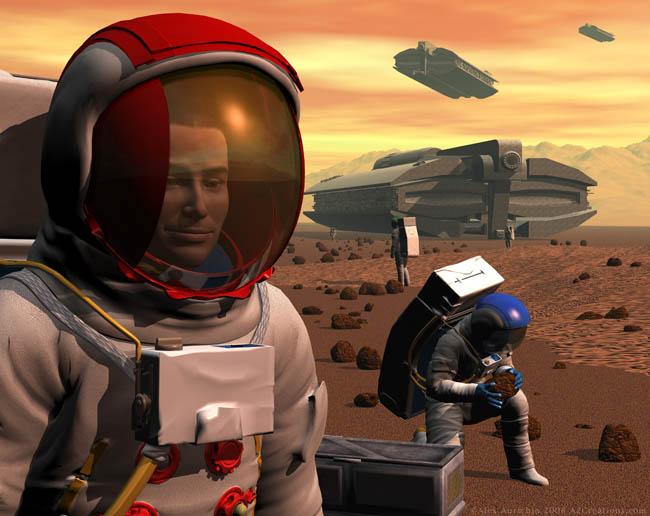 Space Settlement Art Contest: Mars Land Rush