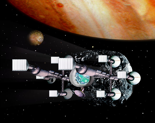Space Settlement Art Contest: Argosy asteroid colony