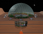 Space Settlement Art Contest Biodome City