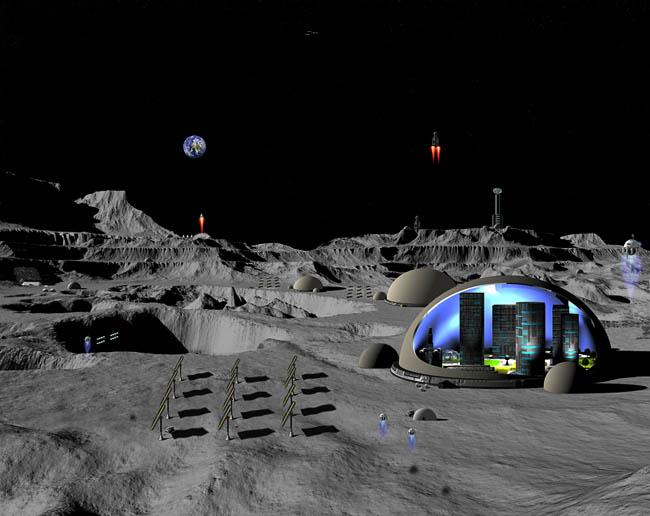 Space Settlement Art Contest Mark Gearhart Archimedes Settlement