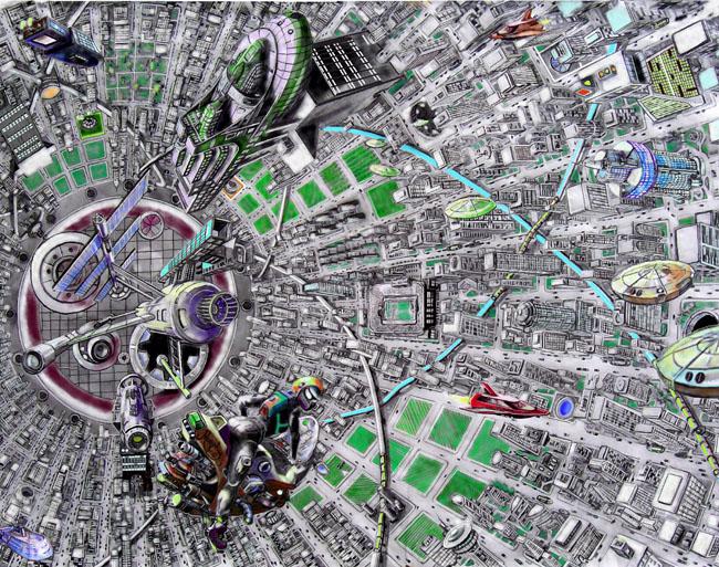 Space Settlement Art Contest: Inside Orbital City