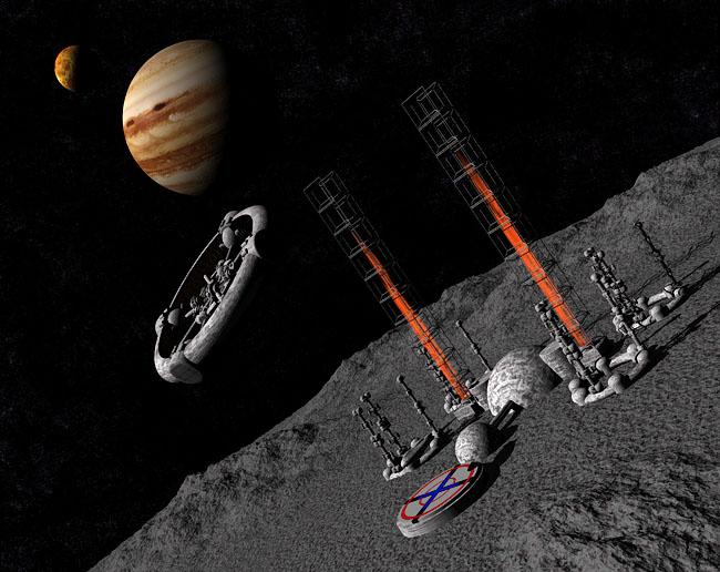 Space Settlement Art Contest: Jovian Asteroid Diversion Project