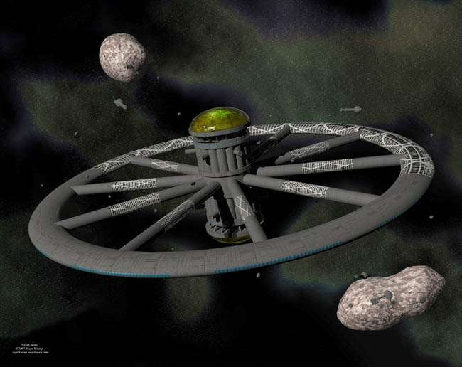 Space Settlement Art Contest Roger Klump Nysa Colony