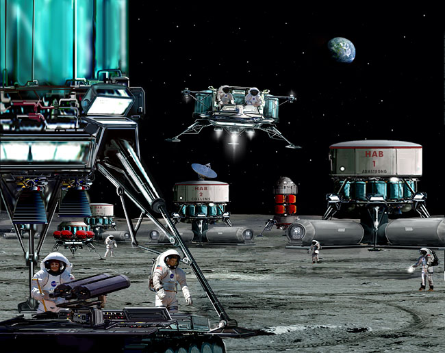 "Space Settlement Art Contest: Moonbase ""Apollo"""