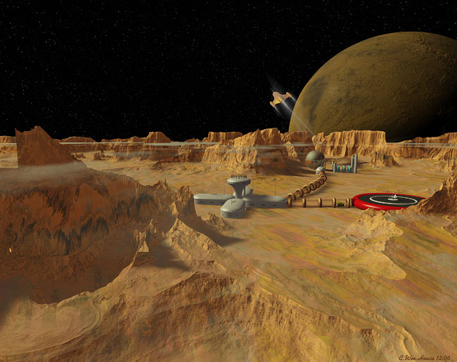 Space Settlement Art Contest: Phobos Base