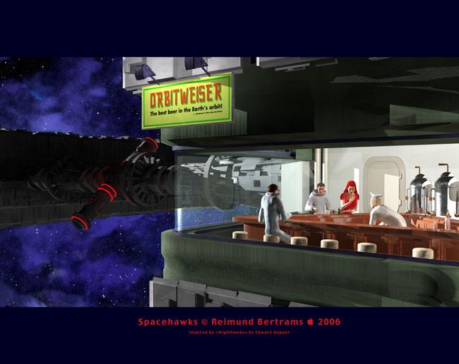 Space Settlement Art Contest: Spacehawks