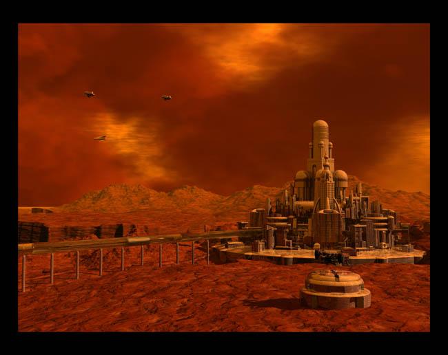 Space Settlement Art Contest: Storm Front