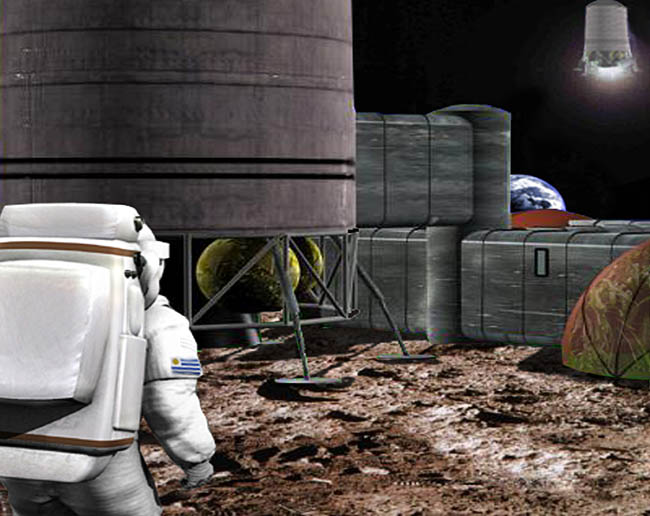 Space Settlement Art Contest: Uruguayan Lunar Base