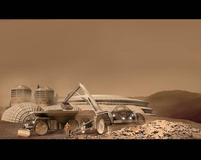 Space Settlement Art Contest Bryan Versteeg Mars Settlement Construction