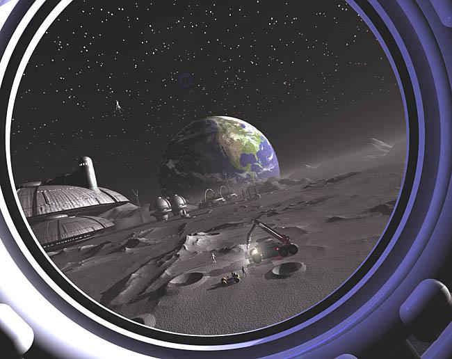 Space Settlement Art Contest Joe Vinton Luna