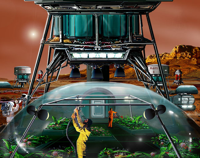 Space Settlement Art Contest Bill Wright A Place Called Eden Mars