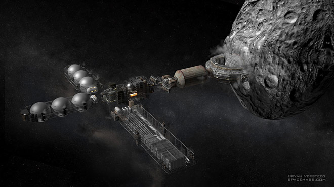 Space Settlement Milestone Asteroid Smelter