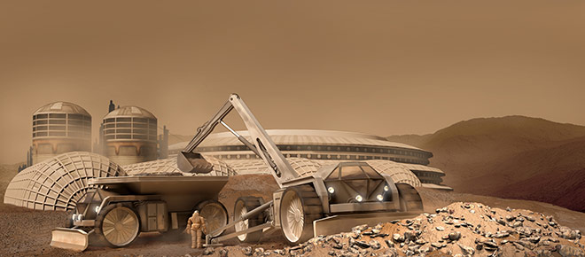 Space Settlement Milestone Mars settlement construction