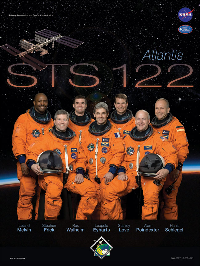 STS 122 Poster