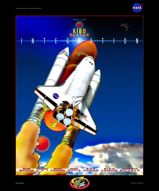 STS 123 Poster