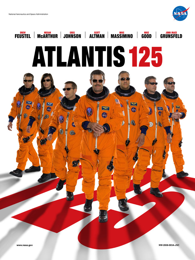 STS 125 Poster