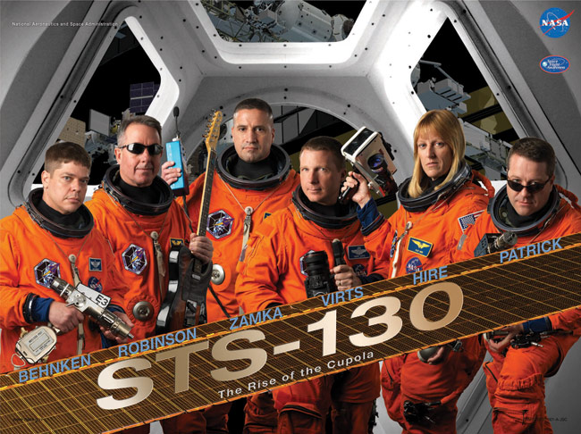 STS 130 Poster