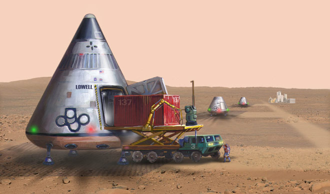 Space Transportation: Reusable Mars Ferry