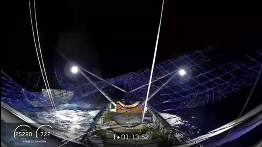 SpaceX faring capture