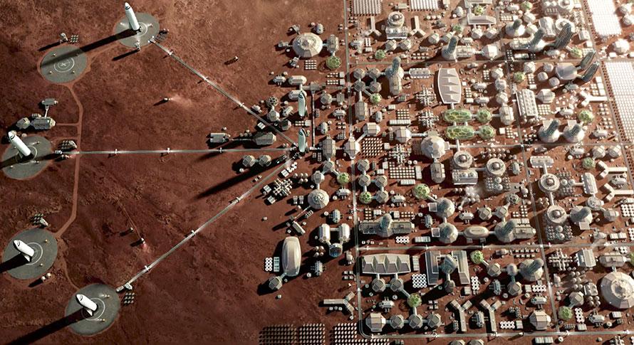 SpaceX Mars city
