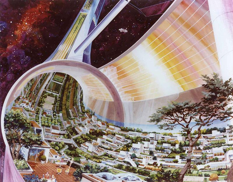 Standord Torus Space Settlement Cutaway