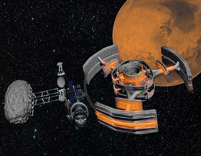 Student Art Contest Asteroid Mining near Mars