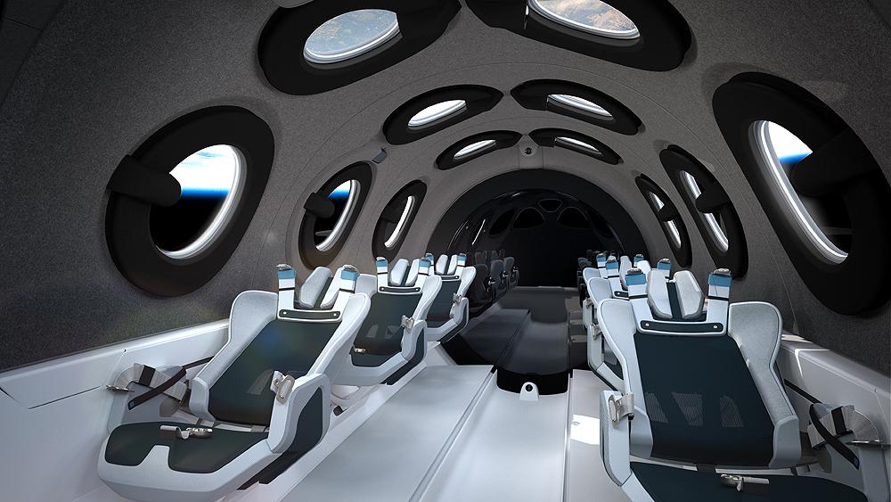 Virgin Galactic interior