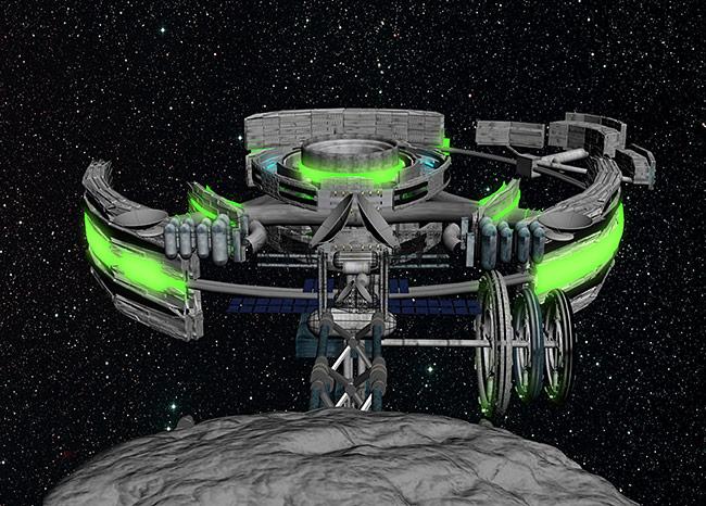 2013 student art contest Voinea Asteroid Docked Settlement